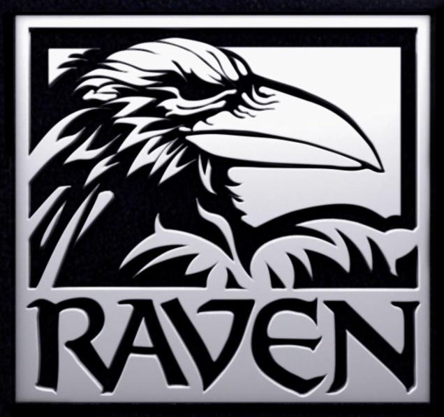 Raven head logo
