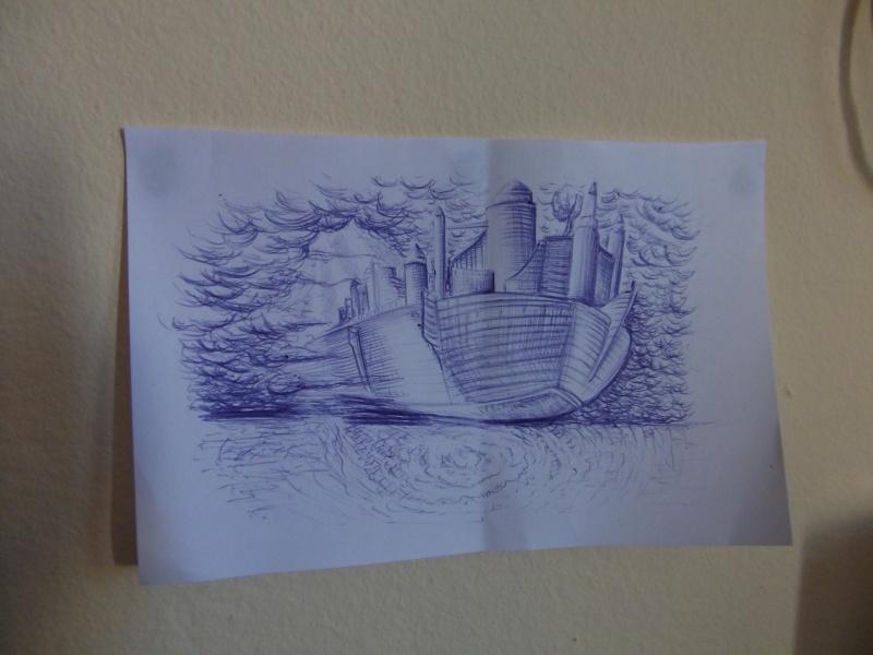 蓝色油笔画_油笔画,简单油笔画图片