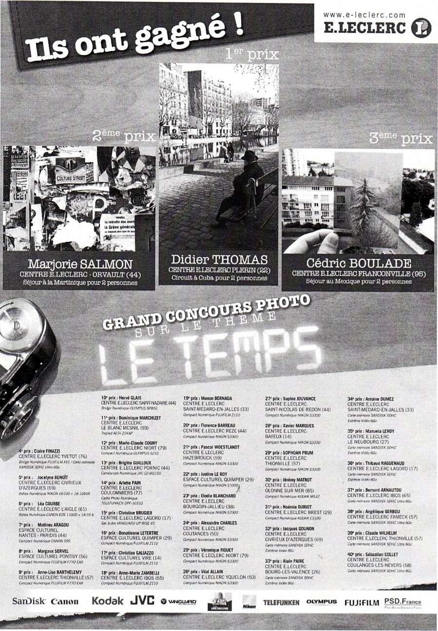 Résultats Grand concours photo E.Leclerc 2012