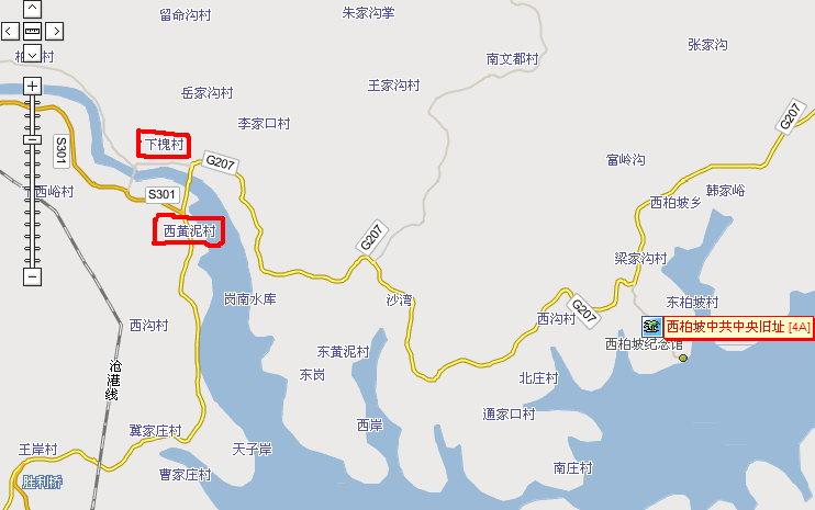 平山县城街道地图