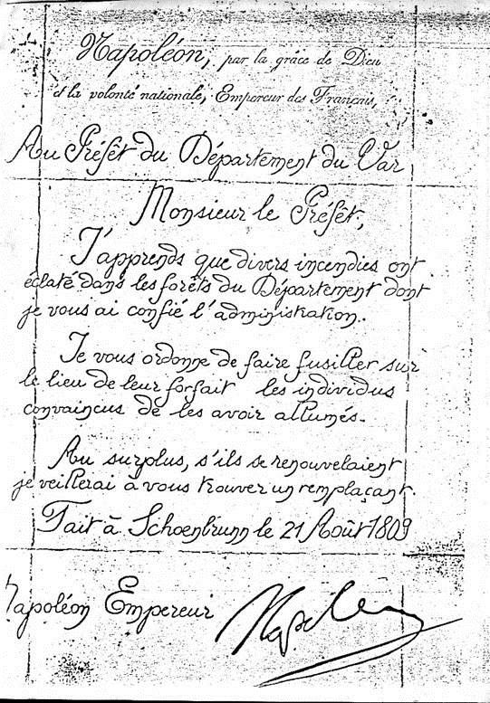 Napoléon écrit au préfet du Var..     Les temps ont bien changé !!! Napole10